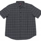 Quiksilver Mens S Gray Pacifica Plaid Button-down Shirt Short Sleeve Camp Small