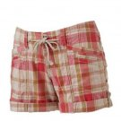 Unionbay Juniors Size 0 Pink and Beige Plaid Shorts Morgan Short Cuffed New
