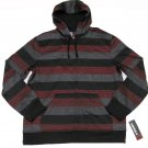 Tony Hawk Mens XXL Red Stripe Hoodie Zip Sweatshirt Slim Fit Gray Black