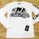 Tony Hawk Mens XL Cali Life T-shirt Long Sleeve Tee Shirt White and Black Bear California