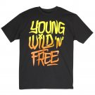 Tony Hawk Mens S Young Wild N Free T-shirt Black Short Sleeve Tee Shirt