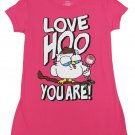 TNT Juniors M Love Hoo You Are Tootsie Roll T-shirt Pink Short Sleeve Tee Shirt Medium