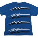 Top Heavy Boys M Double Bolts T-shirt Blue Short Sleeve Tee Shirt Youth Medium
