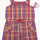 2B Real Girls 4T Pink Plaid Sleeveless Summer Romper Toddler One-Piece Shorts New