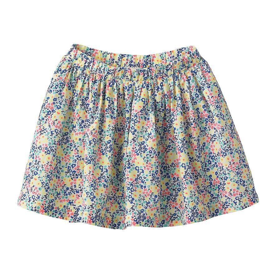 Sonoma Life and Style Girls size 4 Floral Printed Scooter Skirt with Shorts Inside
