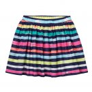 Sonoma Life and Style Girls size 5 Navy Stripe Printed Scooter Skirt with Shorts Inside