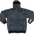 Silver Point Boys M Gray and Blue Plaid Hoodie Youth Long Sleeve Zip Sweatshirt New