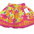 Savannah Girls Size 5 Pink and Orange Floral Faux Wrap Skirt Kids New