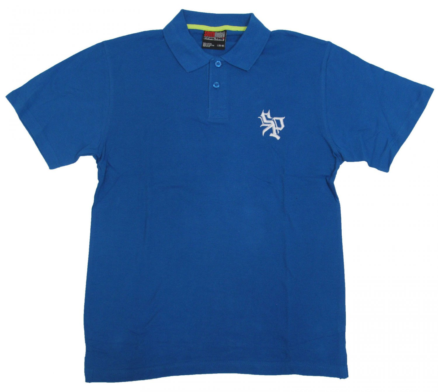 Southpole Boys Size L 16 18 Royal Blue Pique Polo Shirt