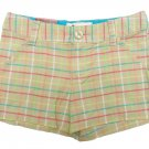 SO Girls size 7 Beige Plaid Shorts Woven Table Short Youth New