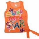 Star Ride Girls 2T Neon Orange Tank Top Shirt