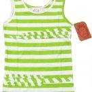 Sugah and Honey Girls Size 10-12 Green Stripe Tank Top Shirt Youth Sleeveless