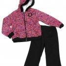Sugar Cookies Girls 4T Pink Leopard Sweatshirt and Black Sweatpants Set