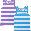 Star Basics Girls size 4-6X Stripe Tank Top Shirt Lot of 2
