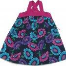 Savannah Girls 2T Floral Summer Dress Purple Green Blue Sleeveless Toddler