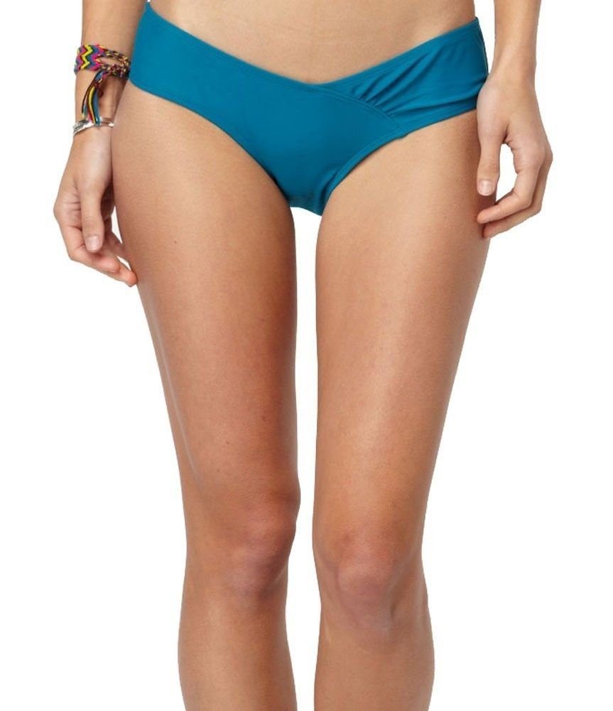 Roxy S 70s Sweetheart Pant Del Blue Low Rise Bikini Swim Bottoms Small