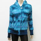 Roxy size M Blue Plaid Hoodie Promise Jacket Snap Down Junior's Medium