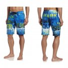 "Quiksilver Mens size 34 Good Day Boardshorts Blue and Green Logo 21"" Board Short Swim"