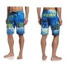 "Quiksilver Mens size 33 Good Day Boardshorts Blue and Green Logo 21"" Board Short Swim"