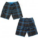 Quiksilver Mens Size 30 Gray Plaid Tartanic Boardshorts Surf Board Shorts Swim
