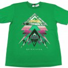 Quiksilver Boys XL Green Pyramid Tee Shirt Youth Extra Large New