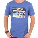 Quiksilver Mens S Season Swell Tee Shirt Light Blue Heather Short Sleeve T-shirt