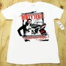 Quiksilver Mens L Dirty Jerz Tee Shirt White Short Sleeve New Jersey T-shirt