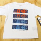 Rocawear Boys size 4 Beyond the Standard Tee Shirt White Crew T-shirt Small