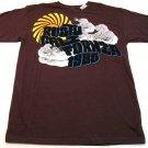 Rusty Mens L Rising Sun Tee Shirt Brown California 1985 T-shirt New