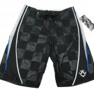 Rusty Mens size 30 Black Back In the Day Boardshorts Checker Board Shorts Swim New