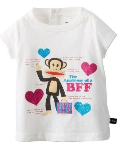 Paul Frank Baby Girls 18 Mos Best Friend Tee Shirt Anatomy of a BFF T-shirt White