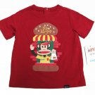 Paul Frank Baby Boys 24 Months PF Burger Tee Shirt Red Fast Food T-shirt New