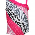Penny M Baby Girls 18 Months Animal Print Swim Suit Swimsuit UPF 50+ Pink Gray Black