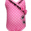 Penny M Baby Girls 12 Months Pink Polka Dot Swimsuit with UPF 50+ One-piece Swim Suit New