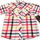 Phat Farm Boys Size 4 Red Plaid Snap-down Camp Shirt