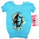 Pinkhouse Baby Girls 24 MOS Blue Butterfly Garden Shirt Smocked Top New