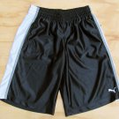 Puma Boys size S Black Gym Shorts Athletic Basketball Short New