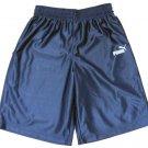 Puma Boys S Navy Blue Basketball Shorts with White Logos Gym Athletic New