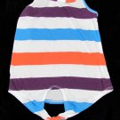 Color Thread Girls XS Stripe Braided Racerback Tank Top Shirt New