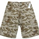 Hurley Boys size 16 Khaki Brown Street Camo Cargo Shorts Youth New