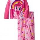 My Little Pony Girls 2T 2-Pc Fleece Pajama Set Pinkie Pie Star Shirt and Pants