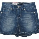 Levis Girls 5 Blue Floral Ruffle Midi Short Mid-length Shorts with Adjustable Waistband