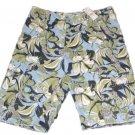 Kirra Mens Size 30 Blue Green Floral Khaki Cargo Shorts New
