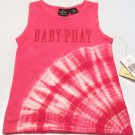 Baby Phat Girls M Pink and White Tie-Dye Tank Top Shirt Sleeveless