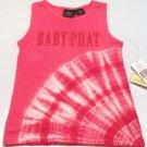 Baby Phat Girls 6X Pink and White Tie-Dye Tank Top Shirt Sleeveless