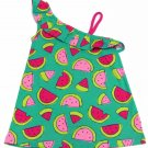 Jumping Beans Girls size 6 One Shoulder Tank Top Babydoll Shirt Green Watermelon