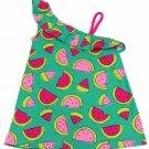 Jumping Beans Girls size 5 One Shoulder Tank Top Babydoll Shirt Green Watermelon