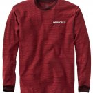 DC Shoes Mens S Dark Red Stripe Numbers Tee Shirt Long Sleeve T-shirt Small