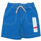 Jumping Beans Boys 2T Blue Canvas Shorts Toddler New