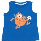 Jumping Beans Baby Boys 18 Months Soccer Monster Sleeveless Shirt Blue